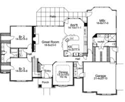 One Floor House Plans Houses Flooring Picture Ideas   FlooriationsLe Chateau One Story Home Plan D House Plans And More