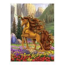 Golden Unicorn <b>Diamond Painting</b> animal scenic Round Full Drill ...