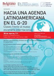 Resultado de imagen para hacia una agenda latinoamericana en el g20