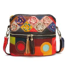 Hot-sale designer <b>Women Genuine Leather</b> Floral Crossbody Bag ...