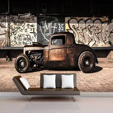 Custom Photo Wallpaper 3D <b>Retro Graffiti Nostalgia</b> Old Car Mural ...
