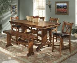 long wood dining table:  counter height dining table fascinating dining room decor ideas with regard to solid wood dining furniture
