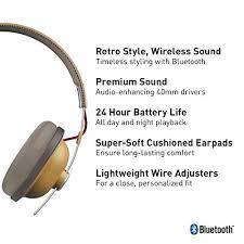 Panasonic <b>Retro Bluetooth Wireless Headphone</b> With Microphone ...