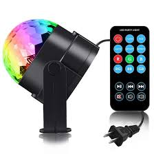 Shop Sound Activated Rotating <b>Disco Ball Party Lights</b> Strobe Light ...