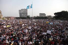 Resultado de imagen de protestas Guatemala