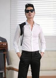 Wholesale Men <b>Korean</b> Style Fashion Slim Long Sleeve Color ...