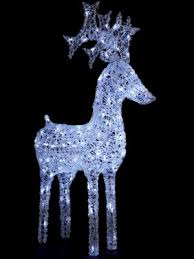 christmas decor reindeer light up standing white reindeer outdoor christmas decoration http www