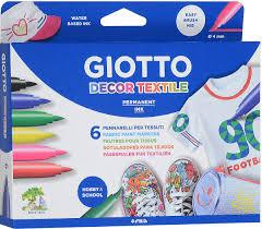 """<b>Giotto Фломастеры</b> """"<b>Decor Textile</b>"""", для декорирования ткани, 6 ..."""