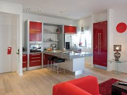 red white kitchen cabinets modern rooms