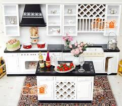 112 scale doll house furniture miniature white and black modern kitchen set aliexpresscom buy 112 diy miniature doll house