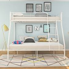 Metal Bunk Bed Frame Ladder Single Double <b>Triple 3 Person</b> ...