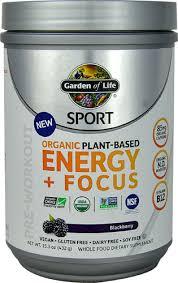 Garden of Life <b>Sport Organic</b> Pre-Workout <b>Energy</b> + Focus Blackberry