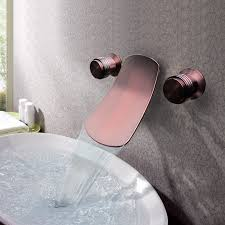 retro bathroom sink fixtures antique brass waterfall