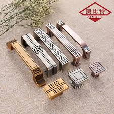 AOBT Chinese Gold Silver Cabinet Handles Kitchen Handle Luxury ...