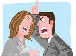Resultado de imagem para fotos ilustrativa de mulher brigando com homem
