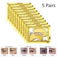 <b>10Pcs</b> 24k <b>Gold Crystal</b> Collagen Eye Mask Anti Aging/Dark Circles ...