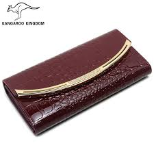<b>KANGAROO KINGDOM</b> Fashion Patent Leather <b>Women Wallets</b> ...