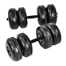 <b>ZJY</b> Adjustable Water Filled Travel Dumbbells - Detachable Non ...