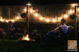 simple patio decorating ideas enjoying the backyard by the light of string lights and a backyard string lighting ideas