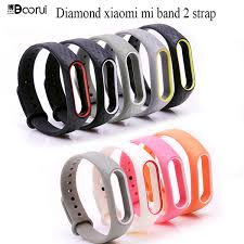 Boorui <b>Colorful</b> Diamond Miband 2 <b>Strap Double Color</b> ...