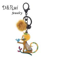 <b>D&Rui Jewelry</b> Cat Key Chain <b>Metal</b> Enamel Kitten Bird Car ...