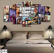 Home Decor Poster <b>HD Pictures</b> Prints Canvas <b>5 Piece</b> Modular ...