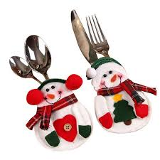 household dining table set christmas snowman knife: christmas and decorative snowman cutlery bags household gift dining table cutlery sets christmas decorationschina
