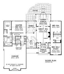 images about home plans on Pinterest   House plans  Floor    First Floor Plan of The Raleigh   House Plan Number