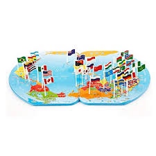 Mullue Children <b>Puzzle</b> World Map Flag <b>Matching Puzzle Toy</b> Kids ...