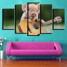 [34% OFF] <b>Modern</b> Unframed Prints High Definition <b>Pig Wall Art</b> ...