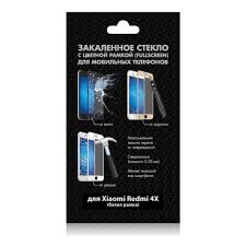 <b>Защитное стекло DF</b> fullscreen для Xiaomi Redmi 4X, белая рамка