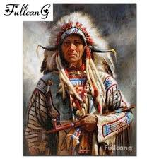 <b>FULLCANG 5D diamond embroidery</b> american indians soldier ...
