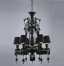 baccarat inspired chandeliers baccarat zenith arm black crystal chandelier