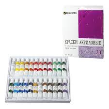 <b>Краски акриловые Brauberg</b> 24 цвета по <b>12</b> мл, художественные ...