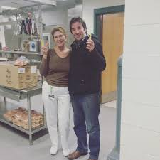 isador s hand fruit program delivers isador s organics mason road elementary kitchen manager ann menzone and justin szostakowski