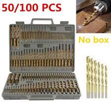 <b>50/100 Pcs/Set Bit Set</b> Saw Set High Steel Drill Woodworking 1/1.5/2 ...
