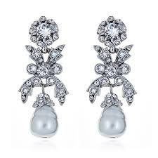 Ben-amun <b>Pearl Crystal Bow</b> Earrings | HAUTEheadquarters
