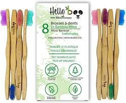 8 Pack <b>Biodegradable Tooth Brush Set</b> | Organic <b>Eco-Friendly</b> Moso