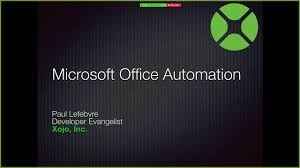 microsoft office automation advantages of office automation