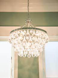 small bathroom chandelier crystal ideas:  stylish photos hgtv and bathroom chandelier