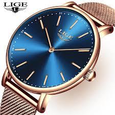 LIGE New Mens Watches <b>Top Brand Luxury</b> Fashion <b>Ultra Thin</b> ...