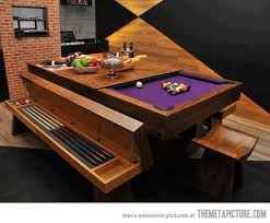 kitchen room pull table: awesome pool table design  awesome pool table design