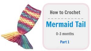 How to <b>Crochet baby Mermaid Tail</b> - Part 1 - YouTube