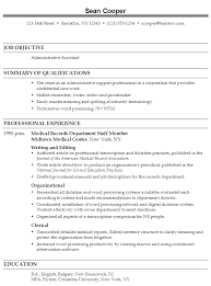 resume template  administrator resume objective manager resume    administrator resume objective for job objective   professional experience