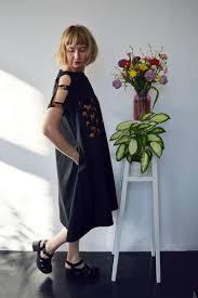 Fresh and <b>New Spring</b> Summer <b>2018</b> Black Cotton Dress with ...