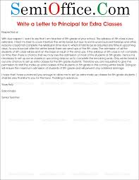 letter to principal requesting for extra classes write a letter to principal for extra classes