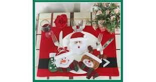 <b>Christmas Decoration Knife</b> Fork Holders (Set of 3)