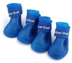 """<b>Ботинки для собак</b> """"<b>Грызлик</b> Ам"""", цвет: синий. Размер M (5 х 4 см ..."""