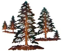 tree scene metal wall art: wall art ideas design sculpture pine tree metal white background wallpaper brown forest mountain high surprising