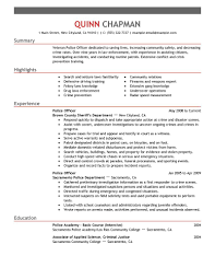 police officer sample resume examples within resume for police officer police officer cover letters